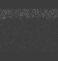 Gray technological hexagon background vector