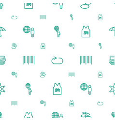 Grunge icons pattern seamless white background vector