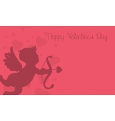 Happy Valentine Day with cupid backgrounds vector image