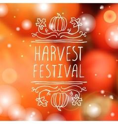 Harvest festival - typographic element vector