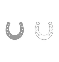 Horseshoe it is black icon vector