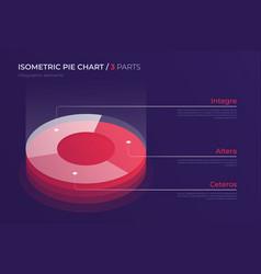 isometric pie chart design modern template vector image