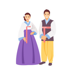 korean clothing vector image