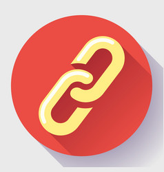link icon hyperlink chain symbol link vector image