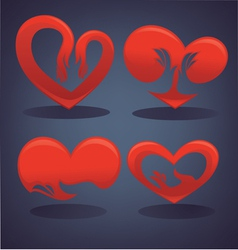Love and hearts symbols vector