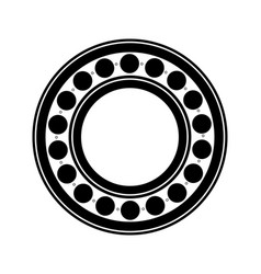 metal ball bearing black silhouette outline vector image