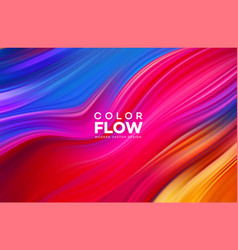 Modern colorful flow poster wave liquid shape vector