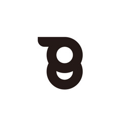 Number 8 motion tires abstract symbol logo vector