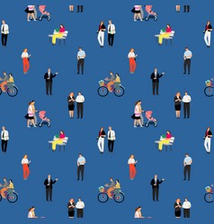 people banner pattern vector image