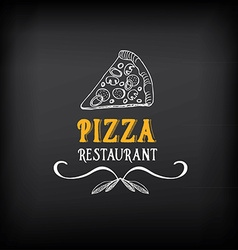 Pizza menu restaurant badges Food design template vector