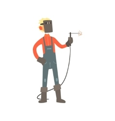 Profession Welder vector image