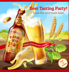 promotion banner for beer tasting party vector image