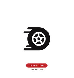 Racing car wheel icon vector