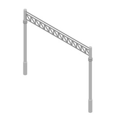 Railway gate icon isometric style vector