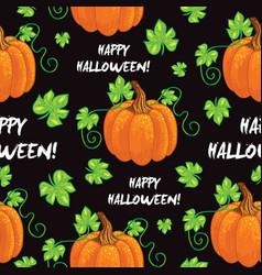 seamless happy halloween pattern vector image