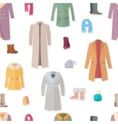 Seamless pattern autumn winter women clothes vector