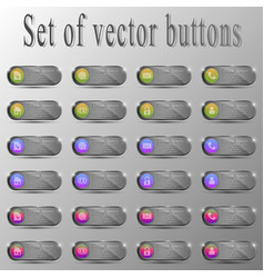 set of buttonsdifferent characters vector image