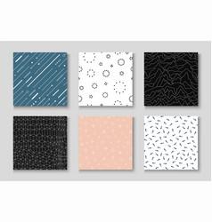 Set seamless creative patterns - minimalistic vector