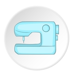 Sewing machine logo flat style vector