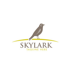 skylark wildlife bird sign vector image