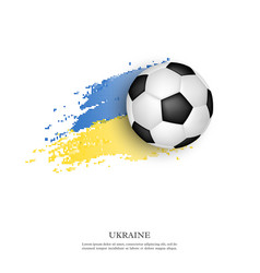 Soccer ball on ukrainian flag vector