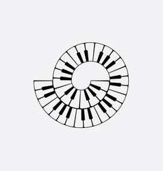 Spiral piano keyboard clipart vector