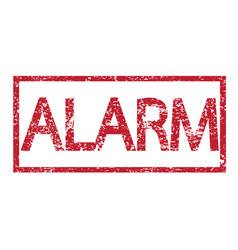 stamp text alarm vector image