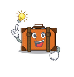 Suitcase with in cartoon have an idea shape vector