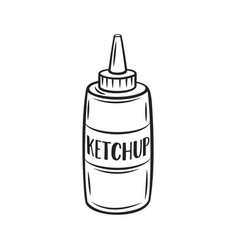 tomato ketchup outline icon vector image