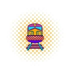 Train icon comics style vector image