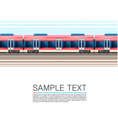 Train on a white background in movement vector