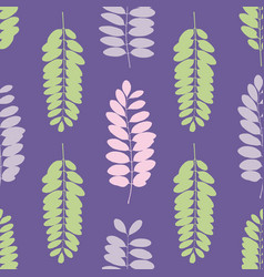Tree leaf silhouettes seamless pattern vector