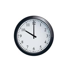 Wall clock set at 10 o clock vector