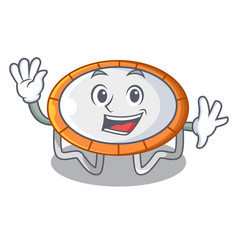 Waving trampoline character room on place isolated vector
