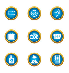 weapon transfer icons set flat style vector image