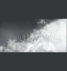 White puff clouds on dark transparent vector