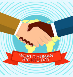 world human rights day concept background flat vector image