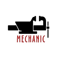 Bench vice with open jaws vector image vector image
