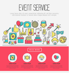 event agency concept organization of party vector image