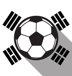 football icon with South Korea flag vector image vector image
