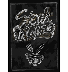 hand drawn steak vector image vector image
