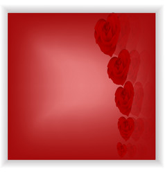 red valentine s day card vector image