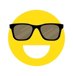 Smiley face with sunglasses vector