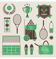 tennis icons vector image vector image