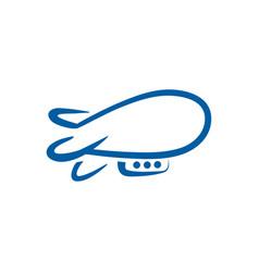airship linear abstract logo template vector image