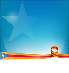 catalonia ribbon flag on background vector image vector image