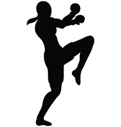 female knee outline vector image vector image