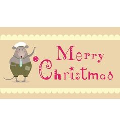 merry christmas mouse vector image