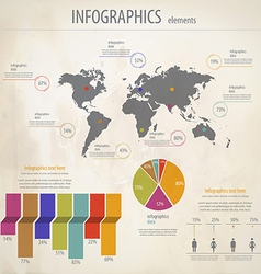 minimal infographics 4 vector image vector image