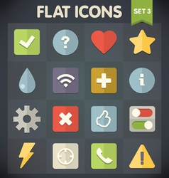 Universal Flat Icons for Applications Set 3 vector image